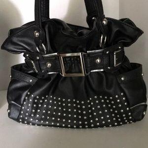 Wilson Black Leather Shoulder Bag
